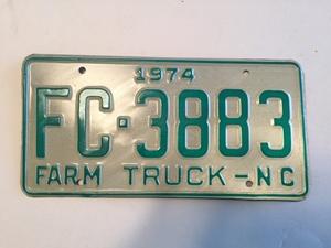 Picture of 1974 North Carolina Farm Truck #FC3883