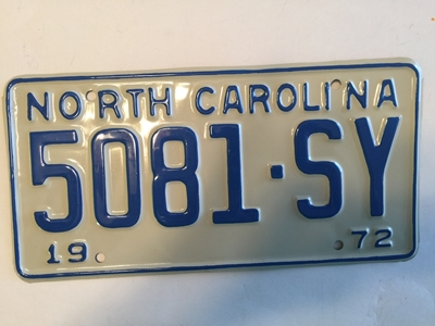 Picture of 1972 North Carolina Truck #5081-SY
