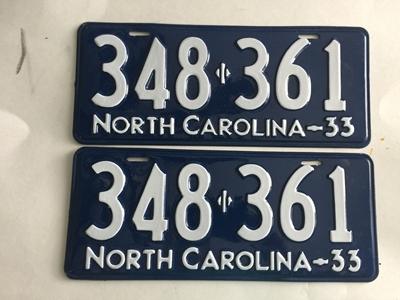 Picture of 1933 North Carolina Pair #348-361