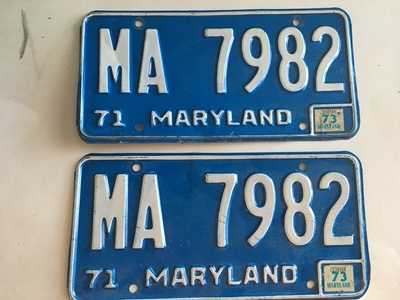 Picture of 1971 Maryland Pair #MA-7982