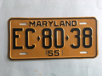 Picture of 1955 Maryland #EC80-38