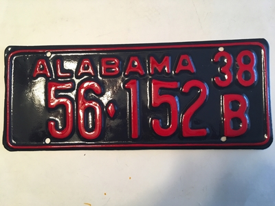 Picture of 1938 Alabama #56-152B