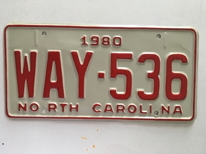 Picture of 1980 North Carolina Car #WAY-536