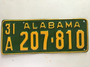 Picture of 1931 Alabama #207-810