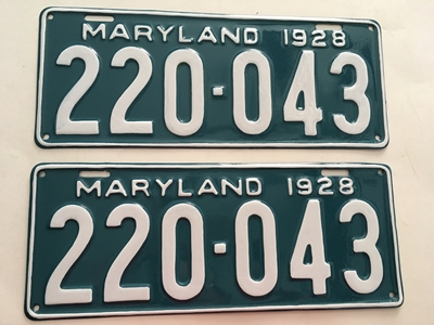 Picture of 1928 Maryland #220-043
