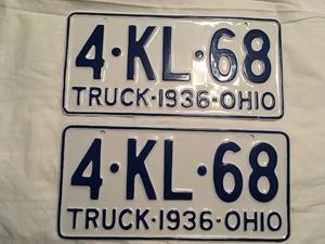 Picture of 1936 Ohio Pair #4-KL-68