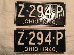 Picture of 1940 Ohio Pair #Z-294-P