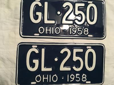 Picture of 1958 Ohio Pair #GL-250