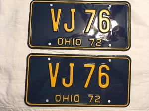 Picture of 1972 Ohio Pair #VJ-76