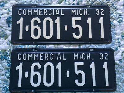 Picture of 1932 Michigan Pair #1-601-511