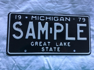 Picture of 1979 Michigan Sample Plate