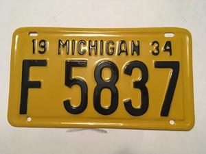 Picture of 1934 Michigan #F5837
