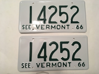 Picture of 1966 Vermont Pair  #14252