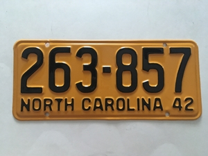 Picture of 1942 North Carolina Car #263-857