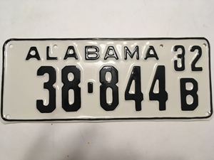 Picture of 1932 Alabama #32-844B