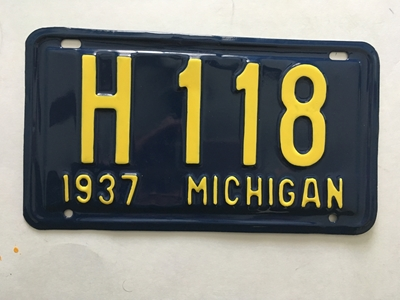 Picture of 1937 Michigan #H 118