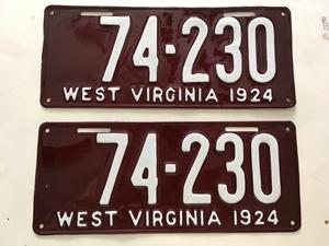Picture of 1924 West Virginia Pair #74-230