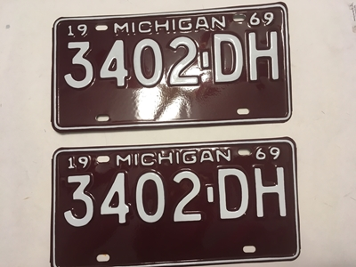 Picture of 1969 Michigan Pair #3402-DH