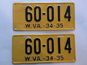 Picture of 1934-35 West Virginia Pair #60-014
