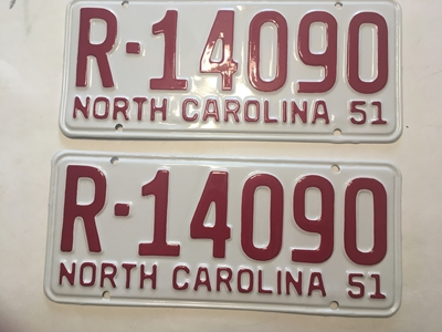 Picture of 1951 North Carolina Car Pair #R-14090