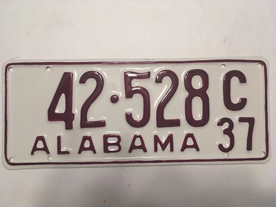 Picture of 1937 Alabama #42-528C