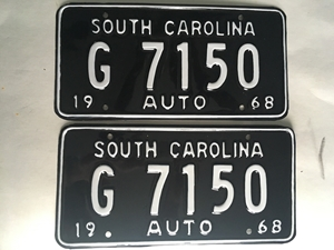 Picture of 1968 South Carolina Car Pair #G7150