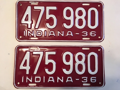 Picture of 1936 Indiana Pair #475980