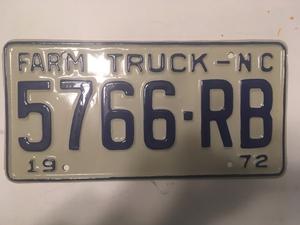 Picture of 1972 North Carolina Farm Truck #5766-RB