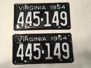 Picture of 1954 Virginia Car Pair #445-149