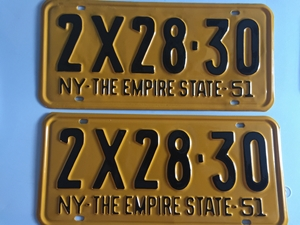 Picture of 1951 New York Pair #2X28-30