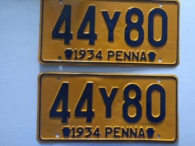 Picture of 1934 Pennsylvania Pair #44Y80