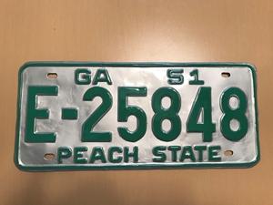 Picture of 1951 Georgia #E-25848