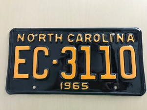 Picture of 1965 North Carolina #EC3110