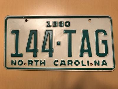Picture of 1980 North Carolina Car #144-TAG