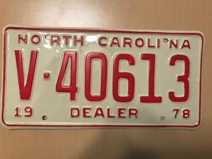 Picture of 1978 North Carolina Dealer #V40613