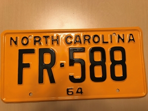 Picture of 1964 North Carolina Car #FR-588