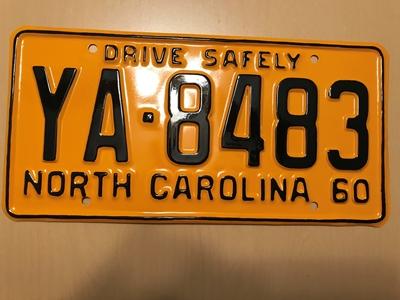 Picture of 1960 North Carolina Car #YA-8483