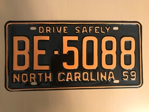 Picture of 1959 North Carolina Car #BE-5088