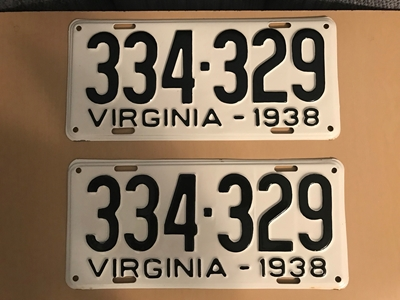 Picture of 1938 Virginia Car Pair #334-329