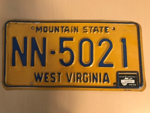 Picture of 1974 West Virginia #NN-5021