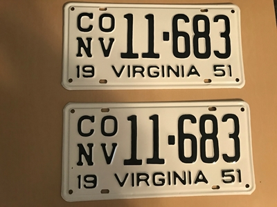 Picture of 1951 Virginia Car Pair #CONV 11-683