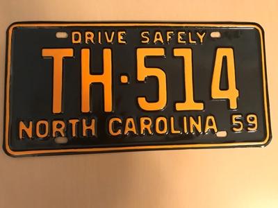 Picture of 1959 North Carolina Car #TH-514