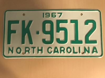 Picture of 1967 North Carolina Car #FK-9512