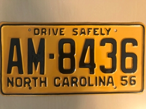 Picture of 1956 North Carolina Car #AM-8436
