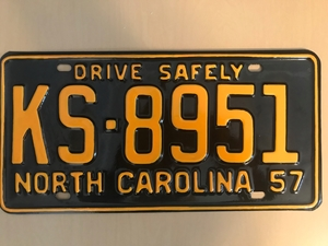 Picture of 1957 North Carolina Car #KS-8951