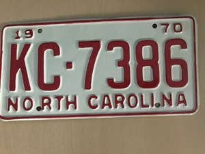 Picture of 1970 North Carolina Car #KC-7386