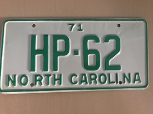 Picture of 1971 North Carolina Car #HP-62