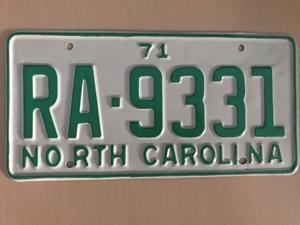 Picture of 1971 North Carolina Car #RA-9331