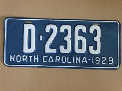 Picture of 1929 North Carolina Dealer #D2363