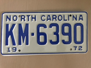 Picture of 1972 North Carolina Car #KM-6390